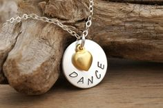 DANCE RECITAL GIFT Sterling Silver Dance Necklace by Cheydrea