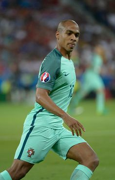 #EURO2016 Joao Mario in action for Portugal during the UEFA EURO 2016 semi final match between Portugal and Wales at Stade des Lumieres on July 6 2016 in Lyon...