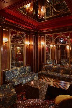 Froufrou, le nouveau restaurant/speakeasy du Théâtre Edouard VII à Paris Design Lounge, Design Café, Shelf Design, Exterior Paint Colors For House, Paint Colors For Home, Bar Interior, Interior And Exterior, Exterior Design, Interior Ideas