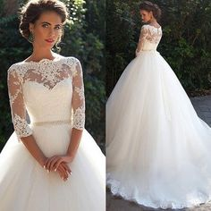 High Quality wedding dress,A-Line Wedding Dress,O-neck wedding…