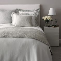 Genoa Bed Linen Collection - Eucalyptus | The White Company