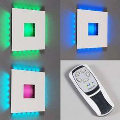 Wandleuchte Plate RGB LED weiß  Verschiedene Farben einstellbar! #RGB #Leuchte