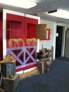 Barnyard theme Sunday school room
