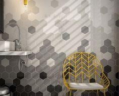 Afbeeldingsresultaat voor hexagon tegels vloer grijs
