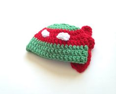 $15.00 - Baby boy Infant Teenage Mutant Ninja Turtle Raphael crochet beanie hat, size Newborn 0-3 Months and 3-6 months. Keep your little one's head warm with this cute Raphael Teenage Mutant Ninja Turtle crochet hat! Perfect for photo shoots or everyday wear! If you don't see your size, ask the seller!