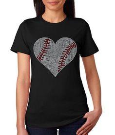 Softball Rhinestone Heart Women's TShirt by SportsBlingandMore Cute Fashion, Trendy Fashion, Trendy Style, Rhinestone Tshirts, Baseball Shirts, Baseball Stuff, Mommy And Son, Sports Mom, Heart Shirt