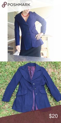 Awesome vintage wool blazer - small Jumbo vintage collar.  Tailored for a perfect fit. Vintage Jackets & Coats Blazers