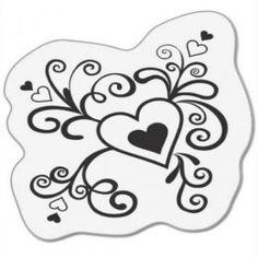 Clear stamps / Srdce v kudrlinkách