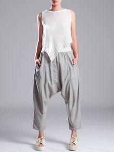 Low Crotch Lyocell Trousers by LURDES BERGADA