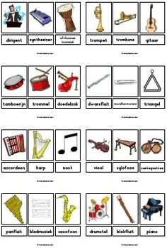 Instrumenten Music Flashcards, Music Worksheets, Preschool Music Activities, Preschool Worksheets, Leadership Activities, Group Activities, Elementary School Counseling, Elementary Schools, Body Percussion