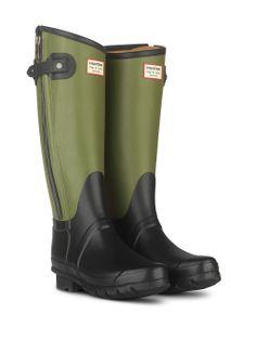 HUNTER + rag  amp  bone Tall in Black Army Green Me Too Shoes 523833d42c658