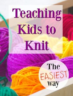 easiest way to teach kids to knit - with videos! projects for kids Teaching Kids to Knit - How Wee LearnThe easiest way to teach kids to knit - with videos! projects for kids Teaching Kids to Knit - How Wee Learn Knitting Terms, Knitting For Kids, Knitting For Beginners, Start Knitting, Knitting Patterns, Knitting Kits, Projects For Kids, Sewing Projects, Craft Projects