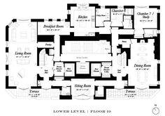 135 East 79th Street duplex penthouse floor 1