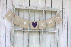 Burlap banner personalized with you initials by victorianstation, $36.00