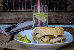 Bagelrezept: Teriyaki Chicken Guacamole Bagel Burger