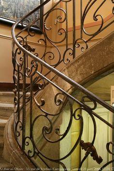 beautiful stair railing