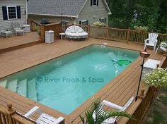 above ground pools in the ground - Google Search