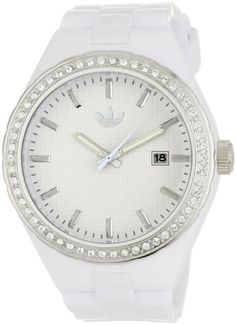 adidas originals Watches Women's Cambridge Glitz White Dial Watch (White) $46.84