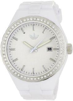adidas originals Watches Women's Cambridge Glitz White Dial Watch (White) $46.84