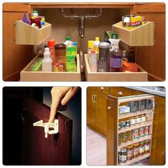 Kitchen idea- under the sink  #KathyClulow 905.852.6143 www.KathyClulow.ca