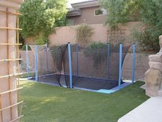 Could we bury our trampoline like this?? allow a cavity to fit right in?