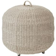 Hines Coastal Taupe Rope Outdoor Hassock (1,640 SAR) ❤ liked on Polyvore featuring home, outdoors, patio furniture, outdoor patio furniture, outdoor furniture, outdoors patio furniture, outside patio furniture and outdoor garden furniture