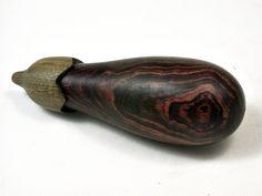 LV-2336 Eggplant Threaded Box, Needle Case, Jewelry Box from Camatillo & Verawood-SCREW CAP