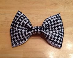 Houndstooth Preppy Hair Bow on Etsy, $4.00
