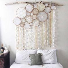 Alternative headboard!!! LOVE this! Crochet ROCKS!   https://www.facebook.com/153206669581/photos/a.284943314581.143276.153206669581/10153199611574582/?type=1