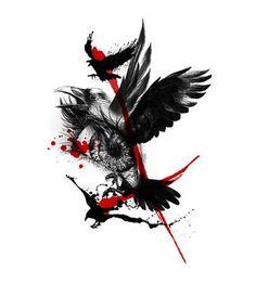 Image result for raven tattoo designs