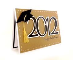 Kraft 2012 Graduation Card  'Congratulations'  by SimplyCBoutique on etsy.