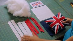 How to Make a British Flag Union Jack pillow video tutorial by @CraftyGemini