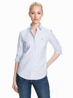Stretch Oxford Classic - Gant - Light Blue - Blusen   Hemden - Kleidung -  Damen 014ed08fea