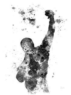 Ilustración de lámina Balboa rocoso, arte de la pared, decoración del hogar, película, Stallone, la película
