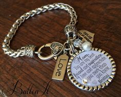 Mother of the BRIDE gift you are my best friend and inspiration, Today a bride charm bracelet by buttonit