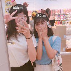 Ulzzang Korean Girl, Cute Korean Girl, Ulzzang Couple, Asian Girl, Korean Best Friends, Cute Lesbian Couples, Girl Couple, Instagram Pose, Korean Couple