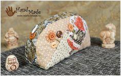 Японский пэчворк: косметичка своими руками. Аппликация в лоскутном шитье.