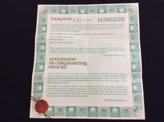 ROLEX Daytona 16518 BLANK Certificate Guarantee paper & holder free shipping  #Rolex