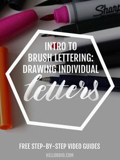 Learn Brush Lettering - here are video tutorials on how to draw each individual letter as based upon the 8 basic strokes of brush calligraphy. Create beautiful brush lettering easily!