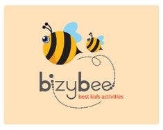 Bizybee Logo design - Its children educational perfect logo! Suitable for children activities, educational craft or daycare. Kids Branding, Branding Design, Daycare Logo, Bee Stencil, Stencils, Honey Logo, Pink And White Background, Fashion Logo Design, Educational Crafts