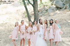 Bridesmaids photos, blush bridesmaid dresses, brooke aliceon photography