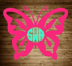 Hey, I found this really awesome Etsy listing at https://www.etsy.com/listing/281579412/butterfly-monogram-decal-monogram-decal