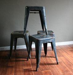 Tabouret by Tolix vintage black metal stools 119 Euros (sold)