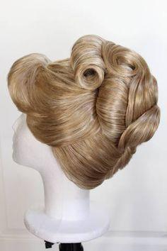 Reserved Listing for Bride Hairstyles, Vintage Hairstyles, Pretty Hairstyles, Wig Hairstyles, Disney Hairstyles, Hairdos, Cinderella Cosplay, Disney Cosplay, Vintage Updo