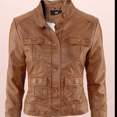 Peanut butter leather jacket...its butta!!