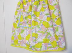Girl's Easter apron Young Girl's half apron by creationsbyjessi, $13.25