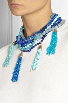 Rosantica|Himalaya gold-dipped agate necklace|NET-A-PORTER.COM