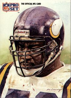 Chris Doleman, Vikings by Merv Corning, inducted 2012 Nfl Football Players, Best Football Team, Football Art, Football Memorabilia, Vintage Football, Fantasy Football, College Football, American Football League, National Football League
