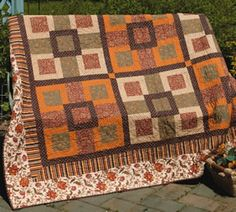 autumn color quilt idea