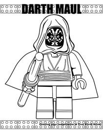Darth Maul coloring page Star Wars Coloring Book, Lego Coloring Pages, Preschool Coloring Pages, Coloring For Kids, Coloring Books, Inside Out Emotions, Dark Maul, Anniversaire Star Wars, Star Wars Colors